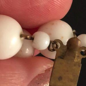 Vintage Jewelry - VINTAGE SIGNED M WEST GERMANY MILK GLASS NECKLACE